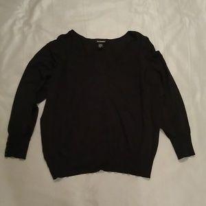 Lane Bryant vneck black sweater